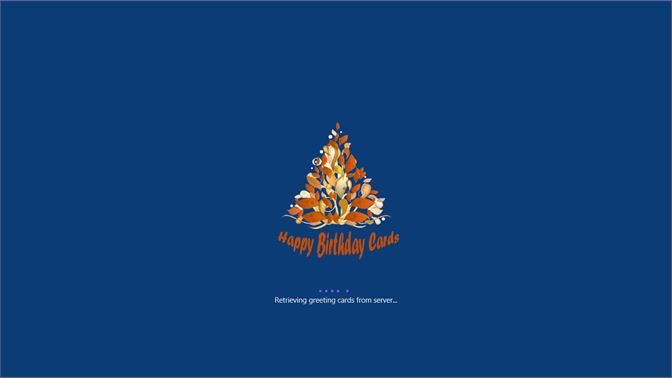 Launch Screen Of Happy Birthday Cards