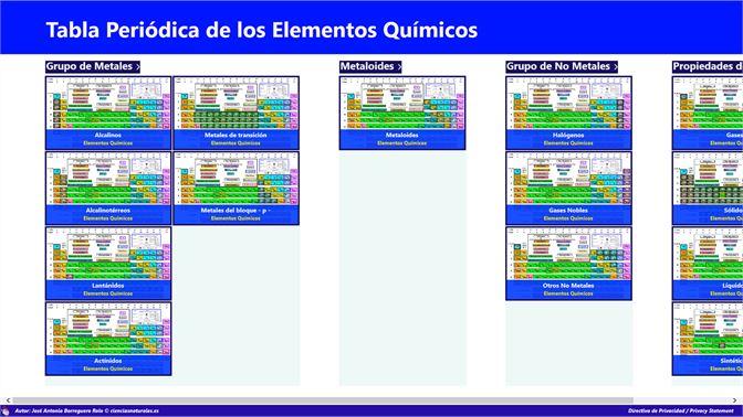 Get tabla peridica de jos antonio borreguero rolo microsoft store screenshot panel general de grupos urtaz Image collections