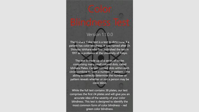color blindness test を入手 microsoft store ja jp