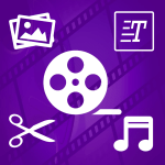 Add Stickers,Photo,Text to Video,Video Editor & Flim Maker Logo