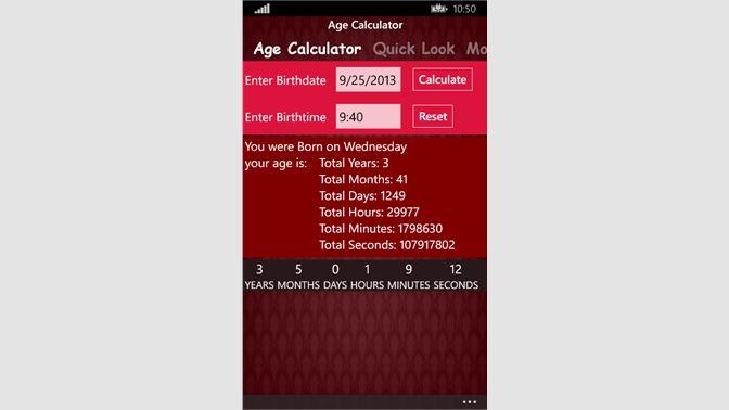 Get Latest Age Calculator - Microsoft Store