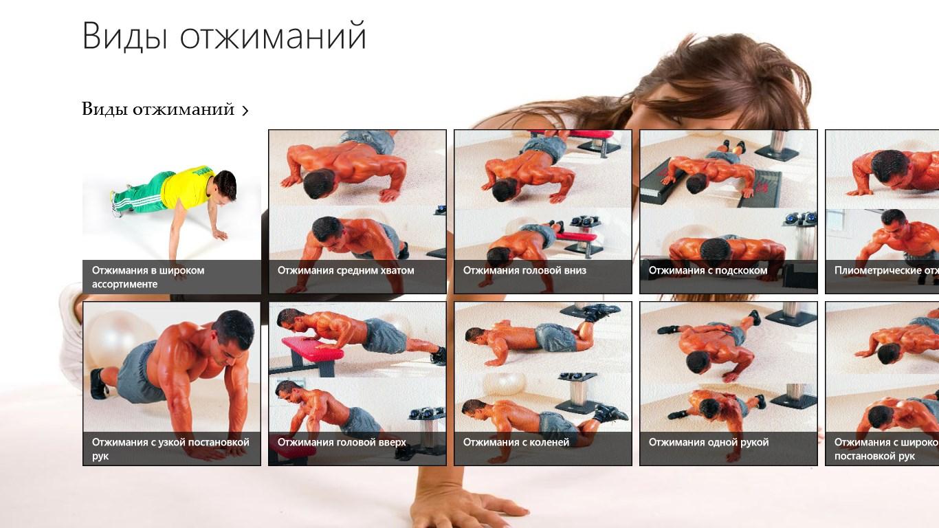 виды отжиманий на разные группы мышц картинки червлёном поле золотой