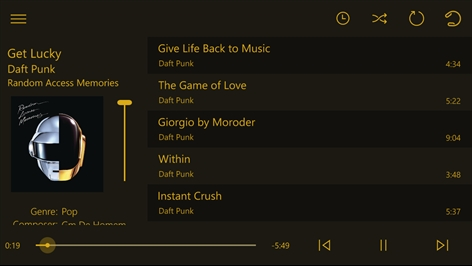 Loco music player Screenshot