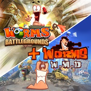Worms Battlegrounds + Worms W.M.D Xbox One