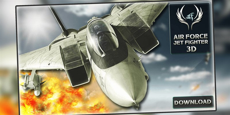 Get Air Force Jet Fighter 3D - War Plane Combat Attack