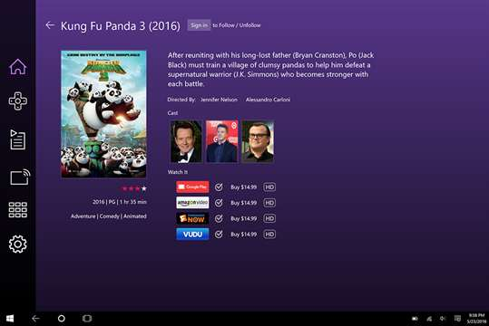 Roku screenshot 3