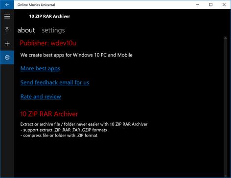 windows 10 rar support
