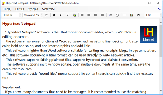 Hypertext Notepad screenshot 1