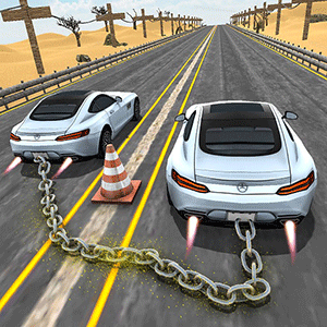 Chained Cars 3D: Impossible Tracks Stunt Drive against Ramp PRO