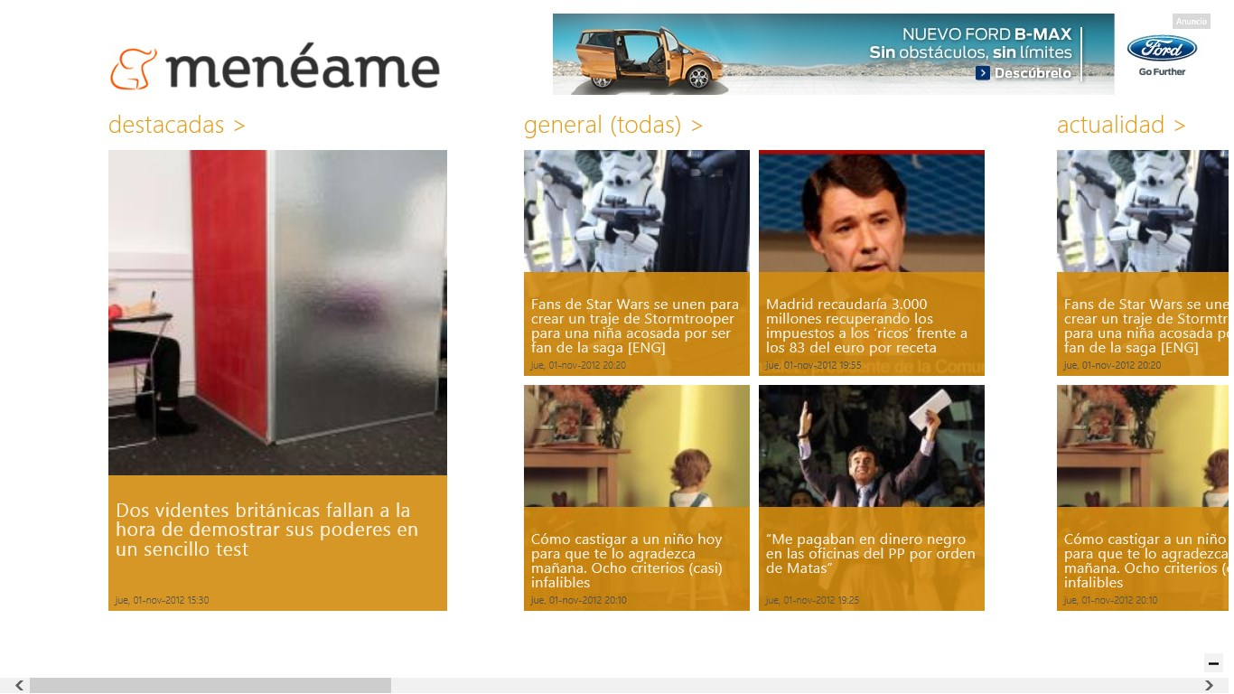 Screenshot of 'Menéame' for Windows