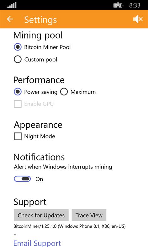 Get bitcoin miner microsoft store screenshot advanced settings ccuart Choice Image