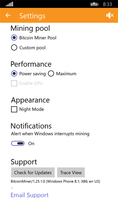 Free Bitcoin Miner App Updates On Windows 10 Mobile And Pc