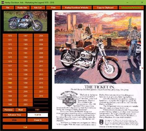 Harley-Davidson Ads 1970-2018 Screenshots 1