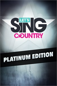 Carátula del juego Let's Sing Country - Platinum Edition