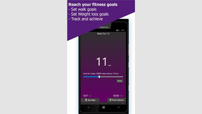 Get Steps Pedometer & Steps Counter Track Walk  - Microsoft