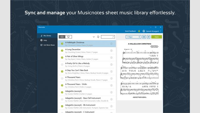 Get Musicnotes Sheet Music Player for Windows 10 - Microsoft