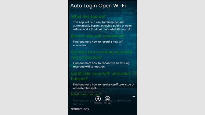 Get Auto Login Open WiFi - Microsoft Store