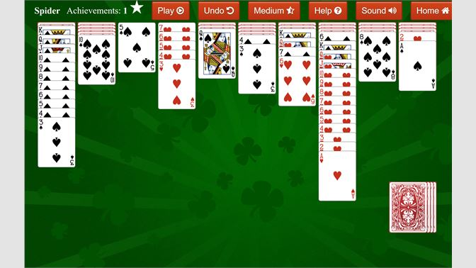 spider solitaire microsoft download windows 10