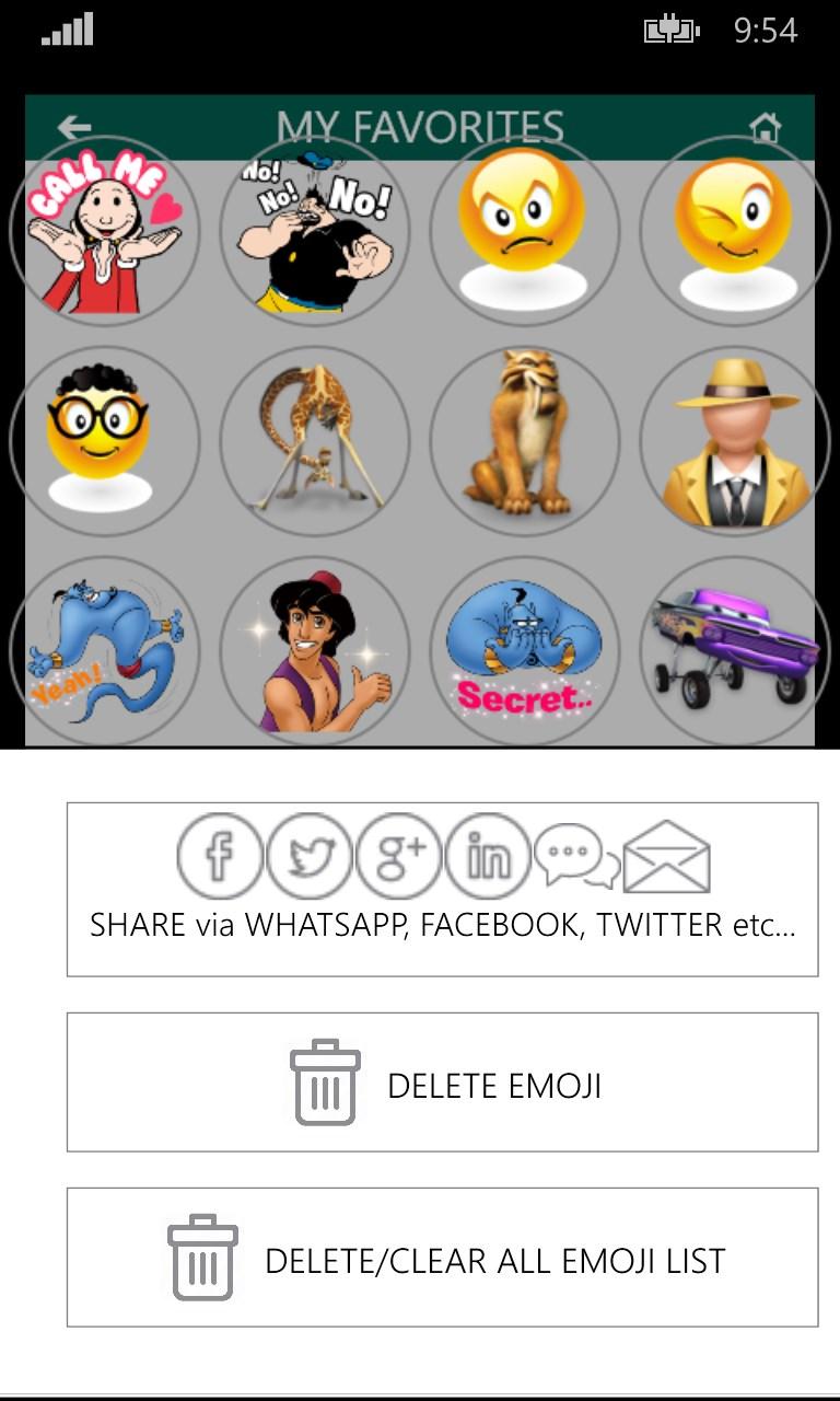 EMOJI STICKERS : for whatsapp, facebook, twitter