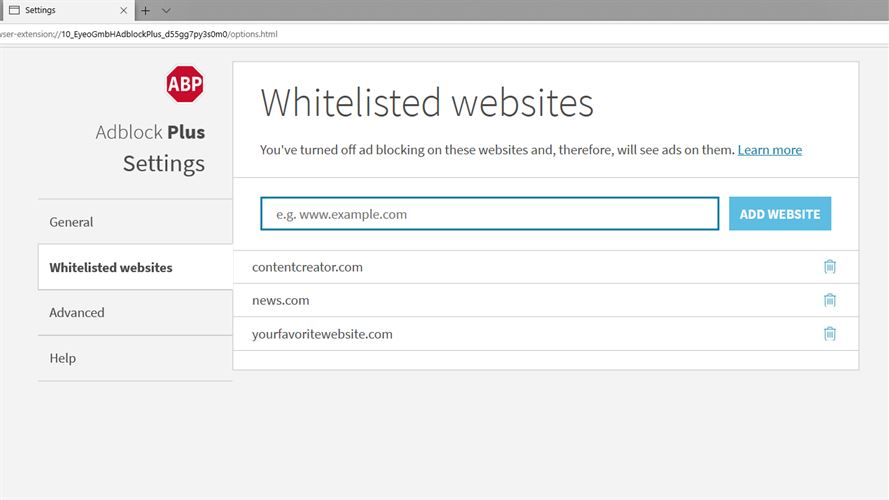 Adblock Plus (Beta) Screenshot