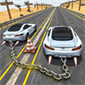 Chained Cars 3D: Impossible Tracks Stunt Drive against Ramp