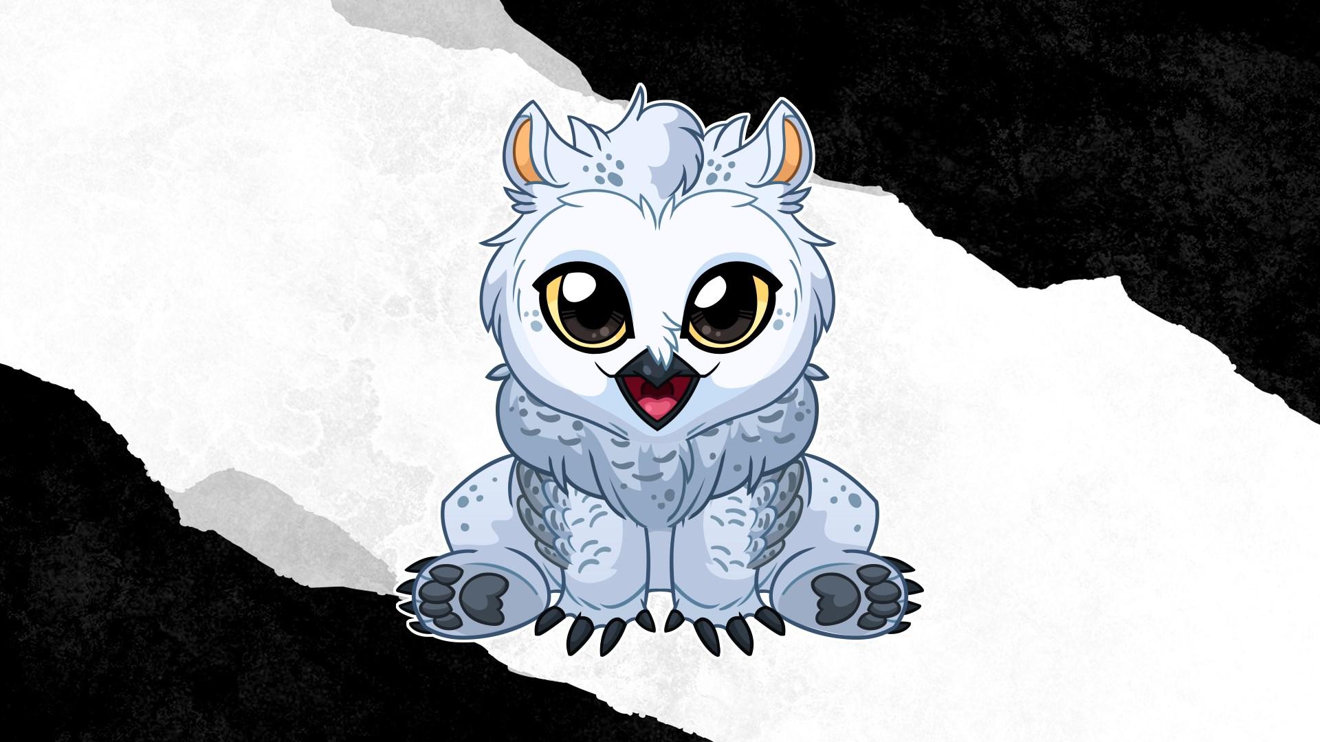Baby Snowy Owlbear Familiar Pack