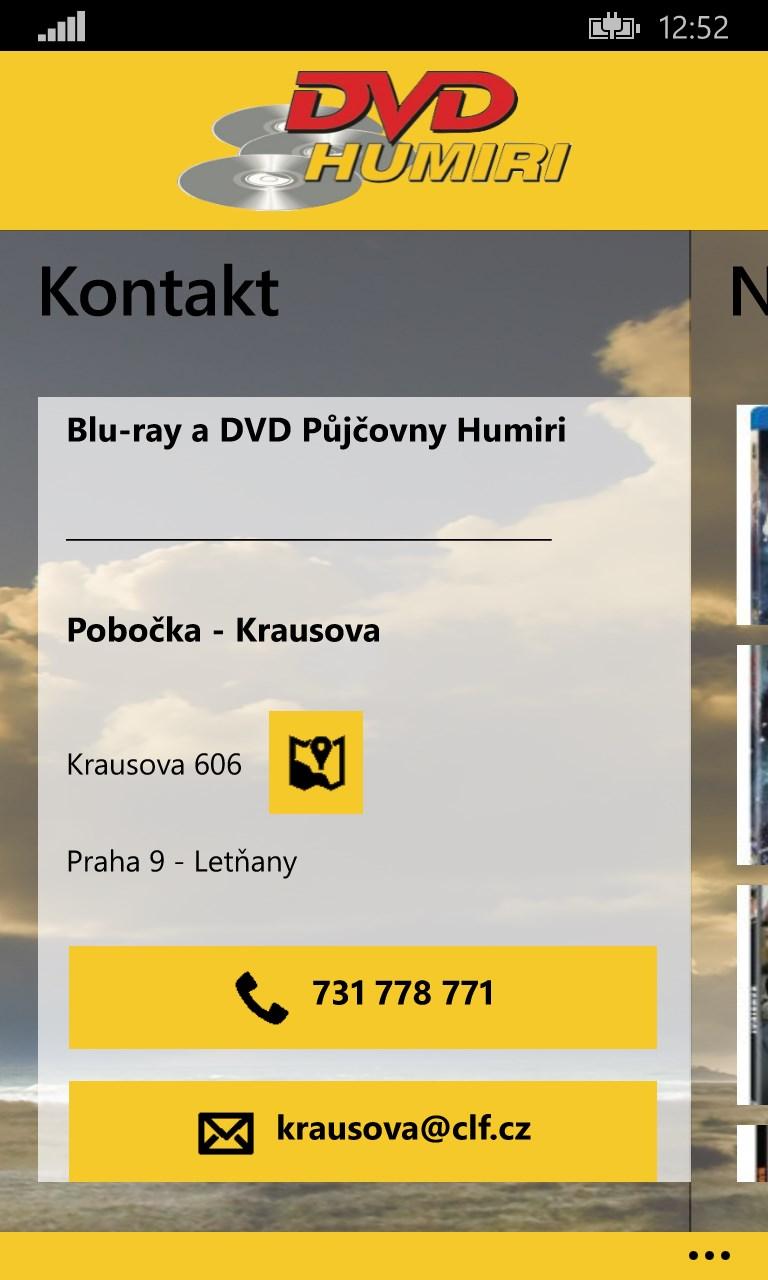 dVD pjen filmu DVD 9 palce bl pro