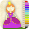 Princesses coloring. Learning games for girls