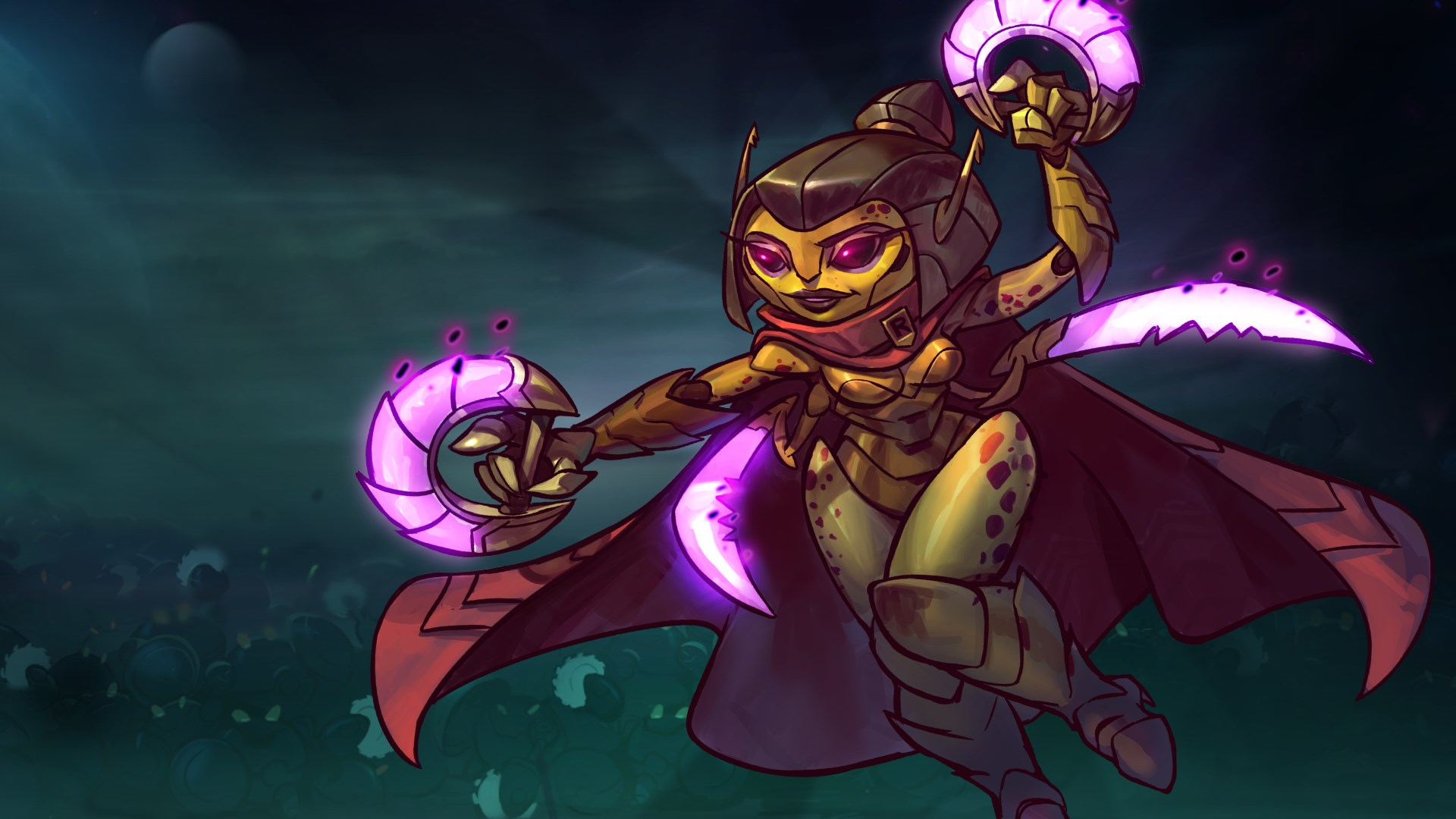 Qi'Tara - Awesomenauts Assemble! Personagem