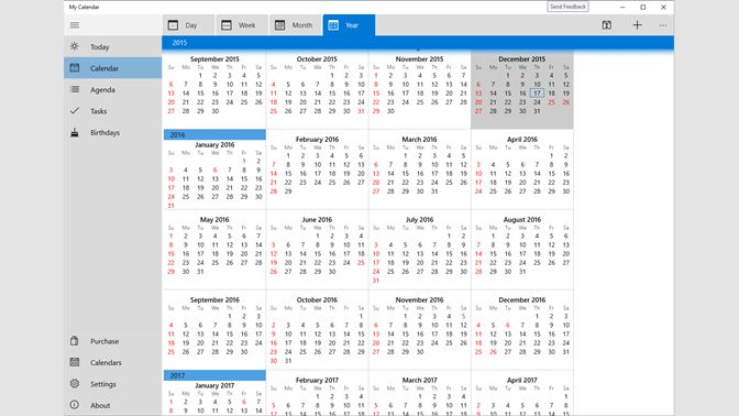 Calendario Windows 10 Su Desktop.Get My Calendar Microsoft Store
