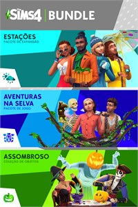 The Sims 4 Bundle - Estações, Aventuras na Selva, Assombroso Coleção de Objetos