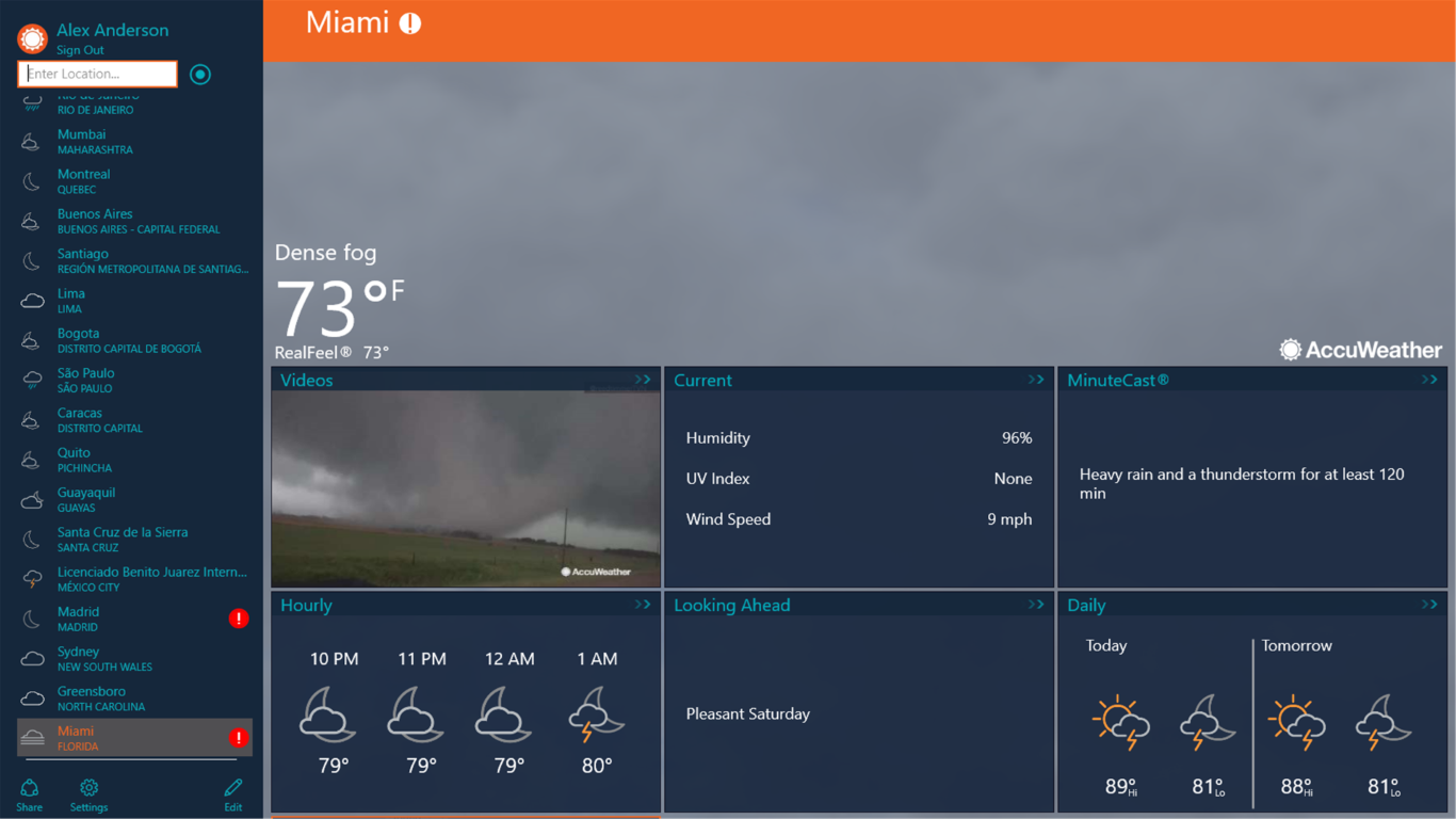 AccuWeather - Weather for Life for Windows 10