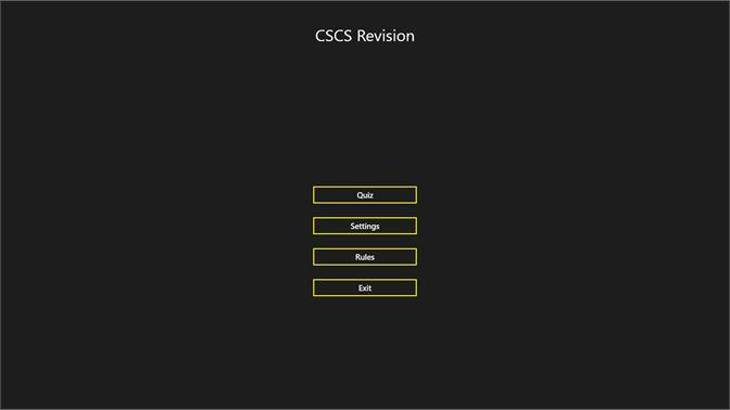 Buy CSCS Revision - Microsoft Store