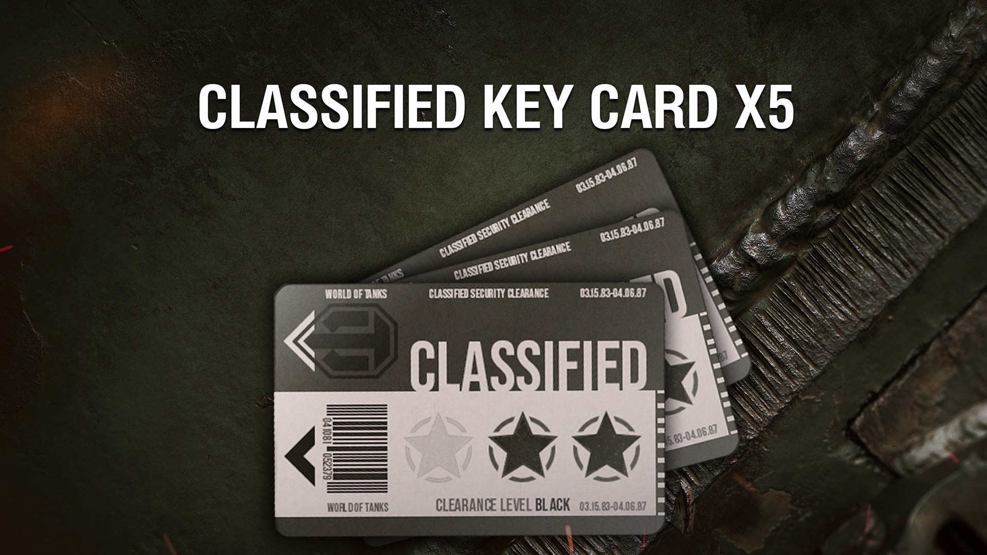 World of Tanks - 5 Classified Key Cards