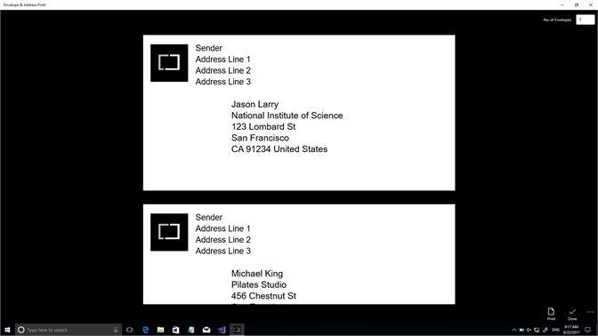 Get Envelope Address Print Microsoft Store
