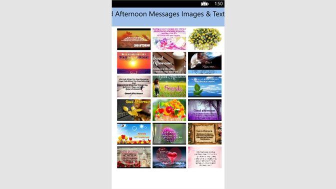 Get good afternoon messages images text sms microsoft store en au screenshot 1 m4hsunfo