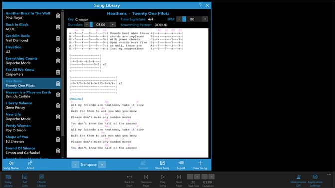Buy Lyrics And Chords Manager Microsoft Store