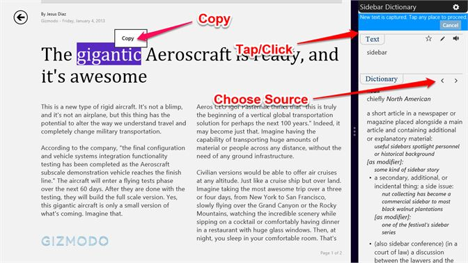 Get Sidebar Dictionary - Microsoft Store