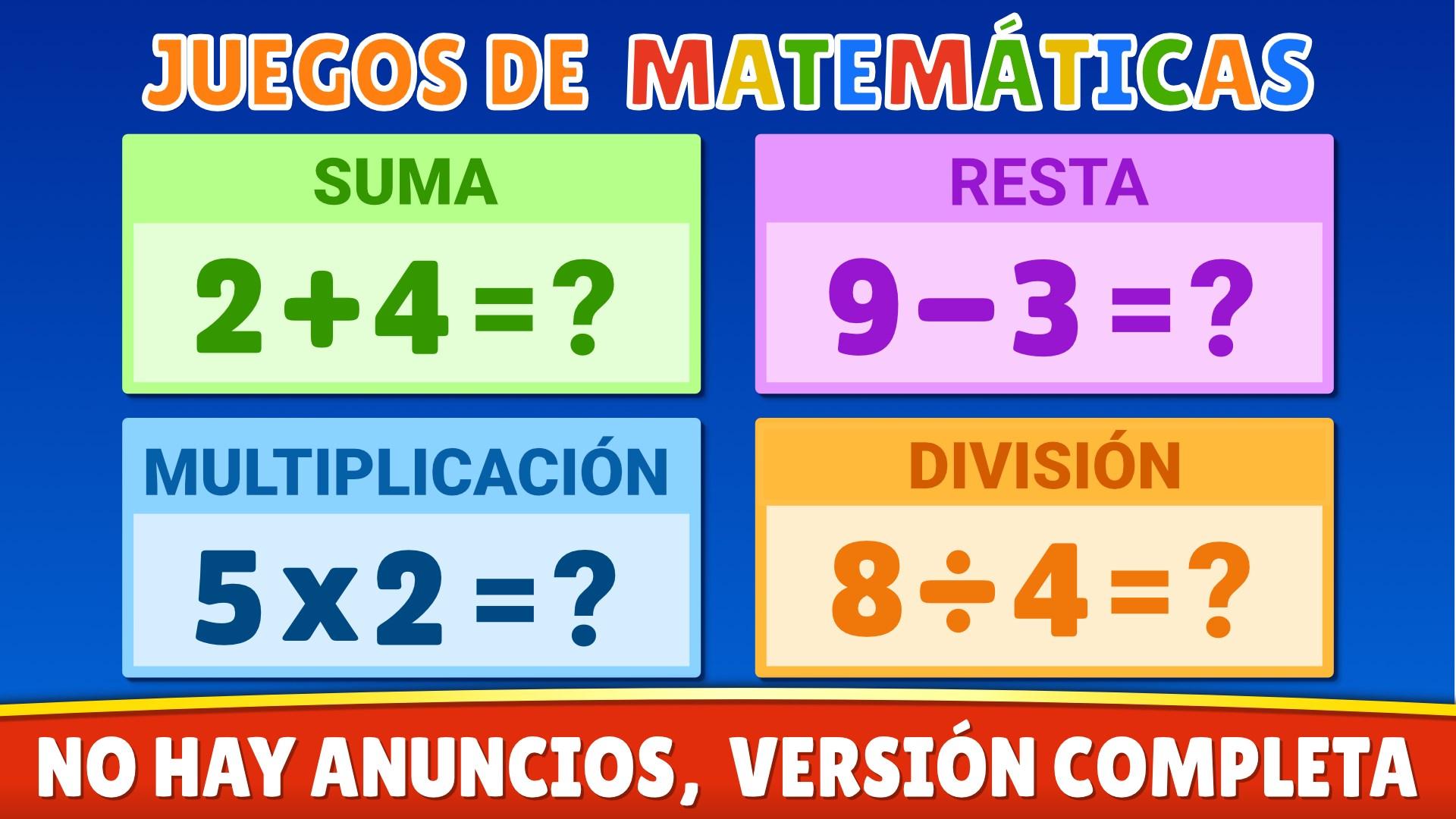 Obtener Juegos De Matemáticas Suma Resta Multiplicación Divisiones Microsoft Store Es Hn