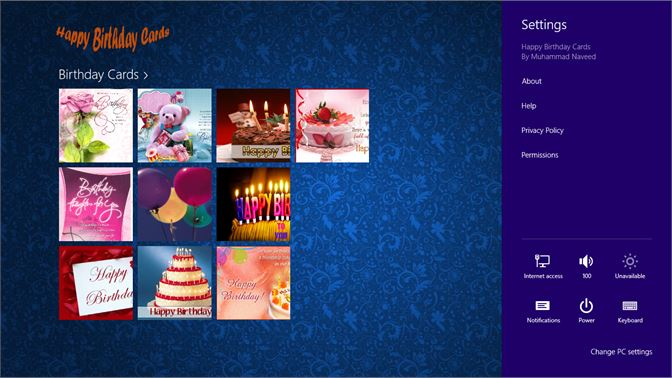 Main Screen Of Happy Birthday Cards