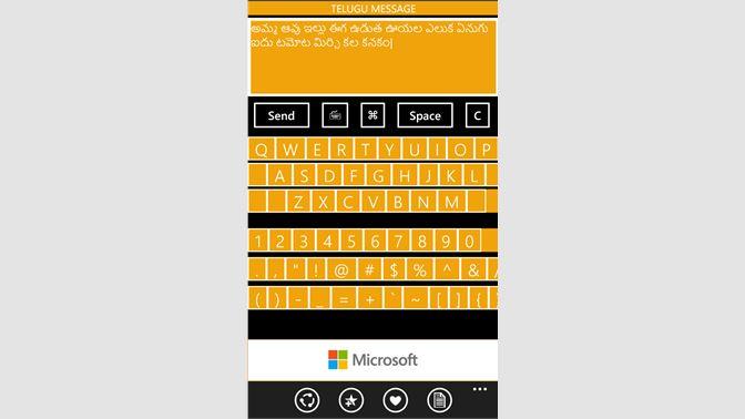 Get Telugu Message Microsoft Store En In