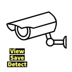 CCTV and Face Detection Logo
