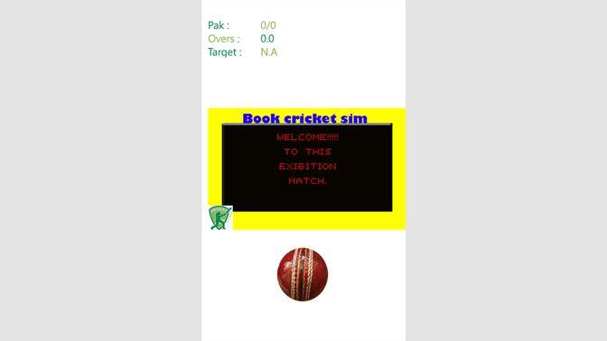 Get BookCricketSim - Microsoft Store