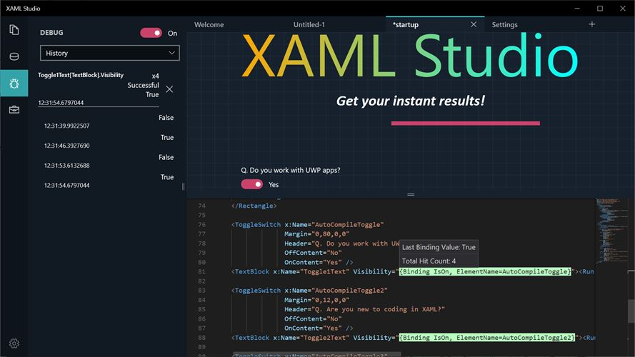 XAML Studio Screenshot