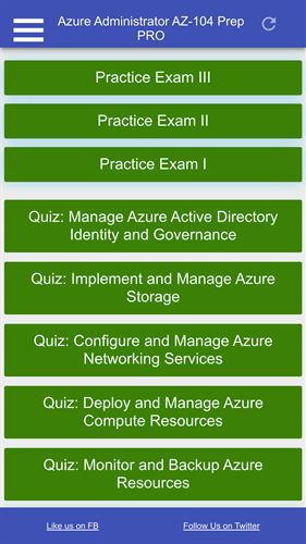 Azure Administrator AZ 104 Certification Practice Tests PRO Screenshot