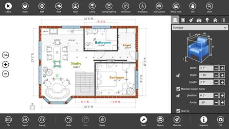 Buy live interior 3d pro microsoft store for 2d floor plan software