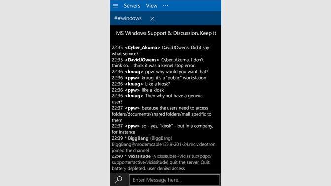 Get WinIRC - Microsoft Store
