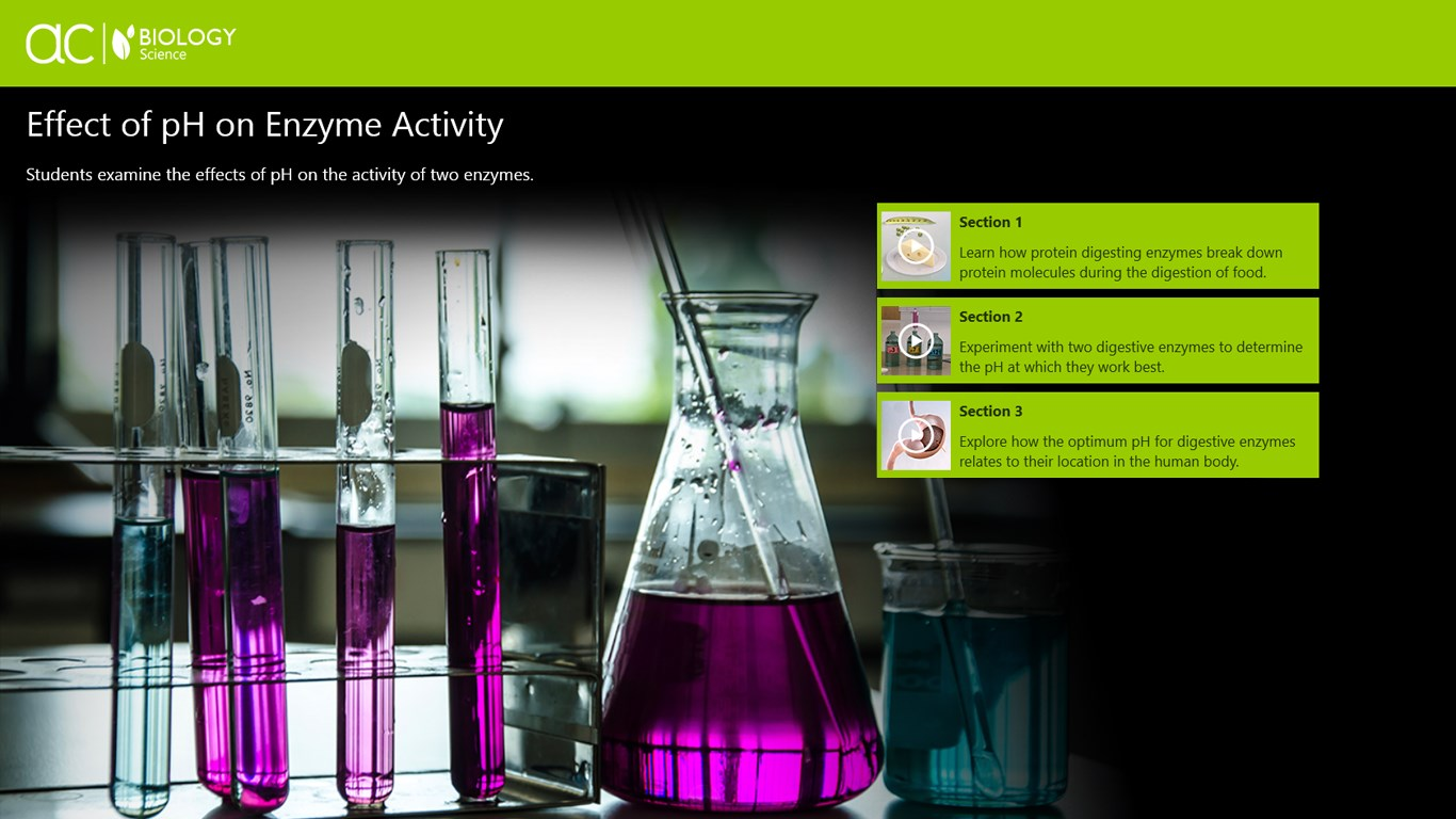 effect of ph on enzyme activity essay The effect of low ph on enzyme activity  design an experiment in which you will test the effect of an acidic fluid on enzymatic activity recall: enzymes are proteins.
