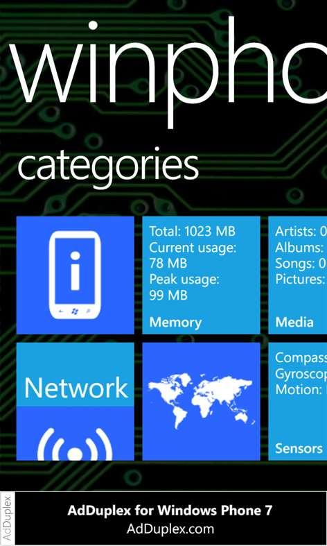 WinPhone Info Free Screenshots 2