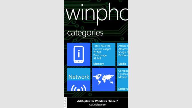 Get WinPhone Info Free - Microsoft Store